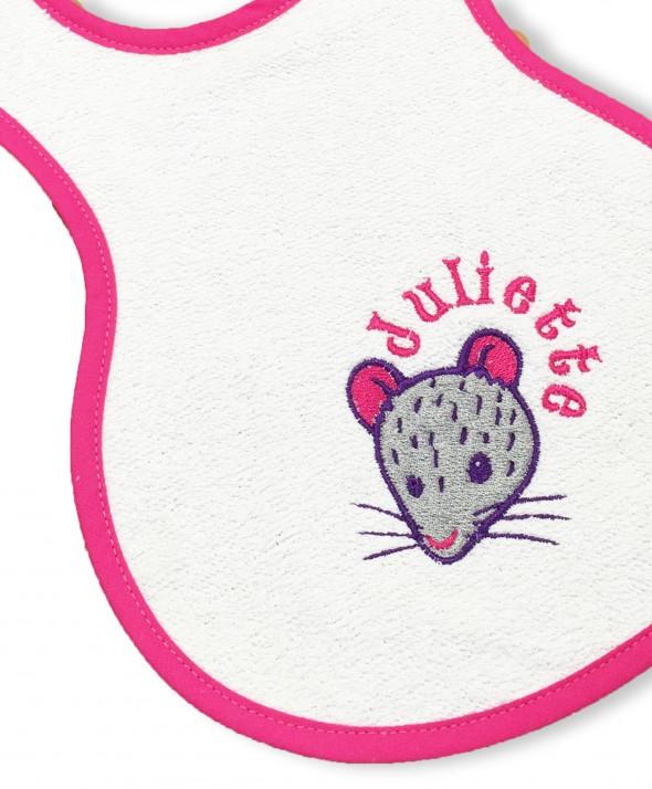 """Bavette """"souris"""" (Fuchsia)"""