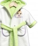 "Peignoir réversible ""bébé"" vert anis"